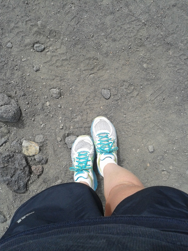 Feet on Mt Doom...
